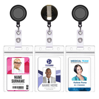 Retractable Badge Holder Reel Clip On Id Card Holders