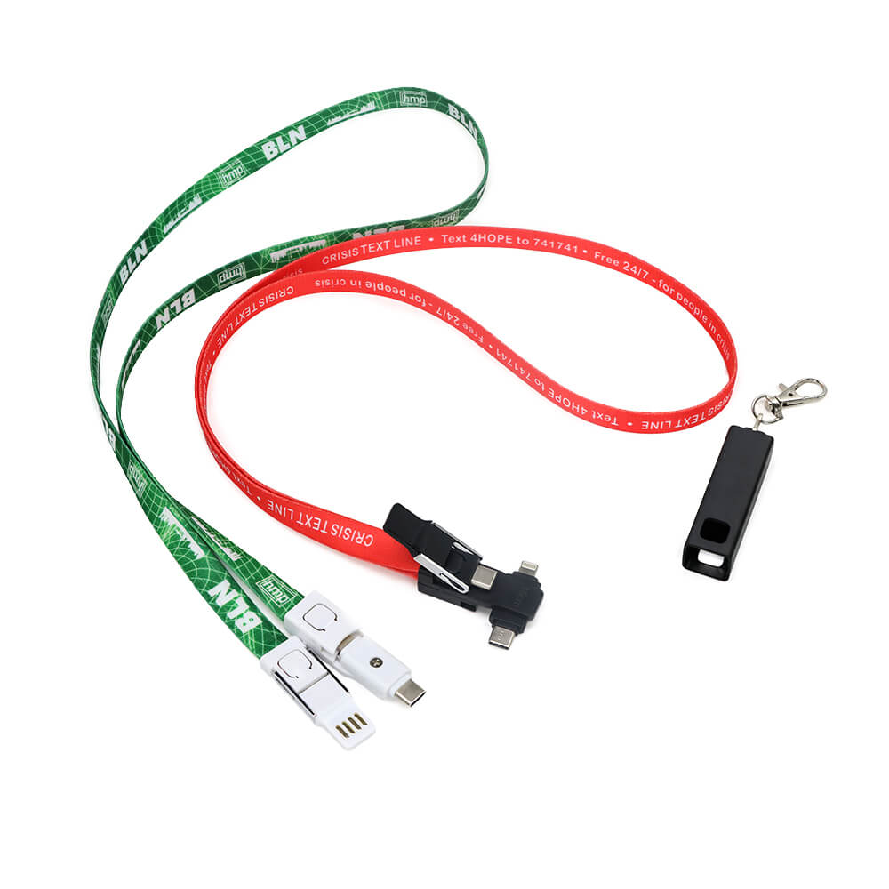 4 in 1 USB Lanyard Charging Cable