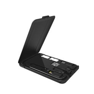 Multi-Functional Wireless Charger Cable Card Box with Phone Bracket and Card Slot and Adptor and Needle
