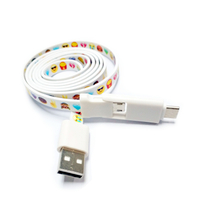 3 in 1 Flat Noodle USB Charging Cable Lanyard