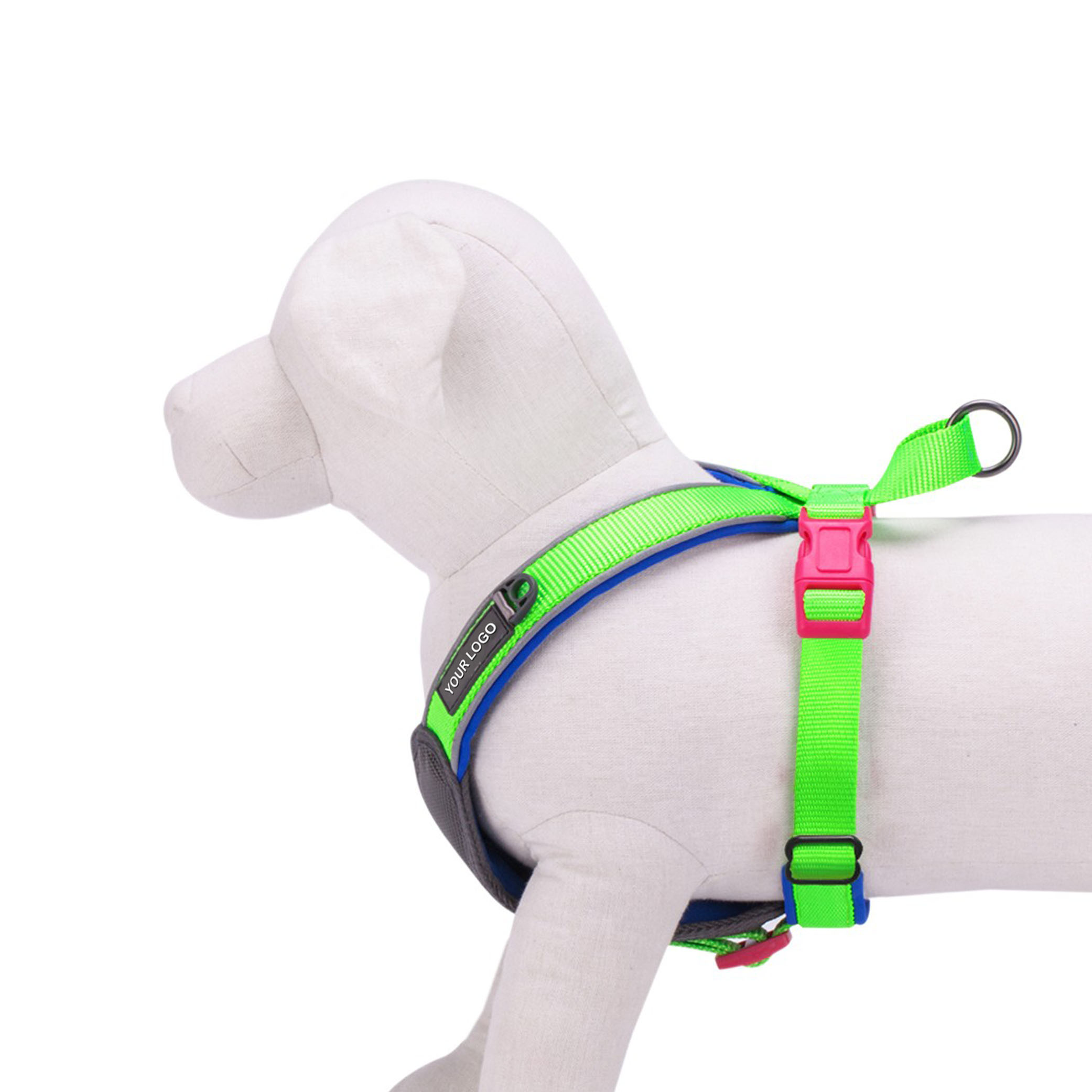 Summer Hope New 3M Reflective Neoprene Classic Padded Dog Harness